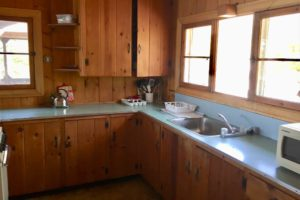 Kitchen at Upenough cottage, Pickerel Bay Lodge